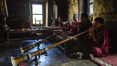 The monks of Lamayuru